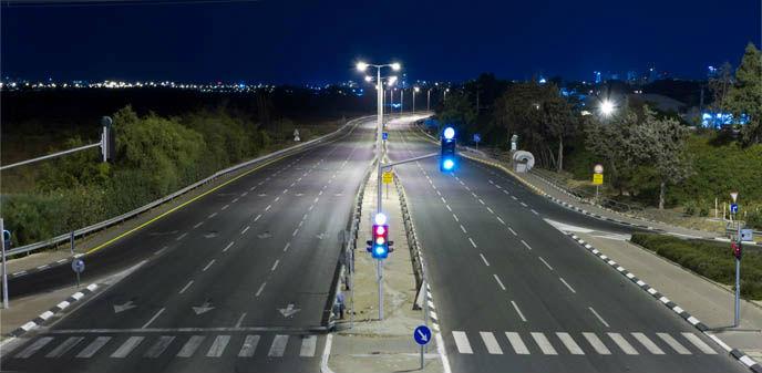 An empty highway on Yom Kippur in Israel