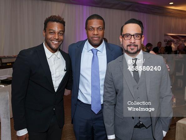 Singer Austin Brown, actor Chris Tucker and singer A.J. McLean