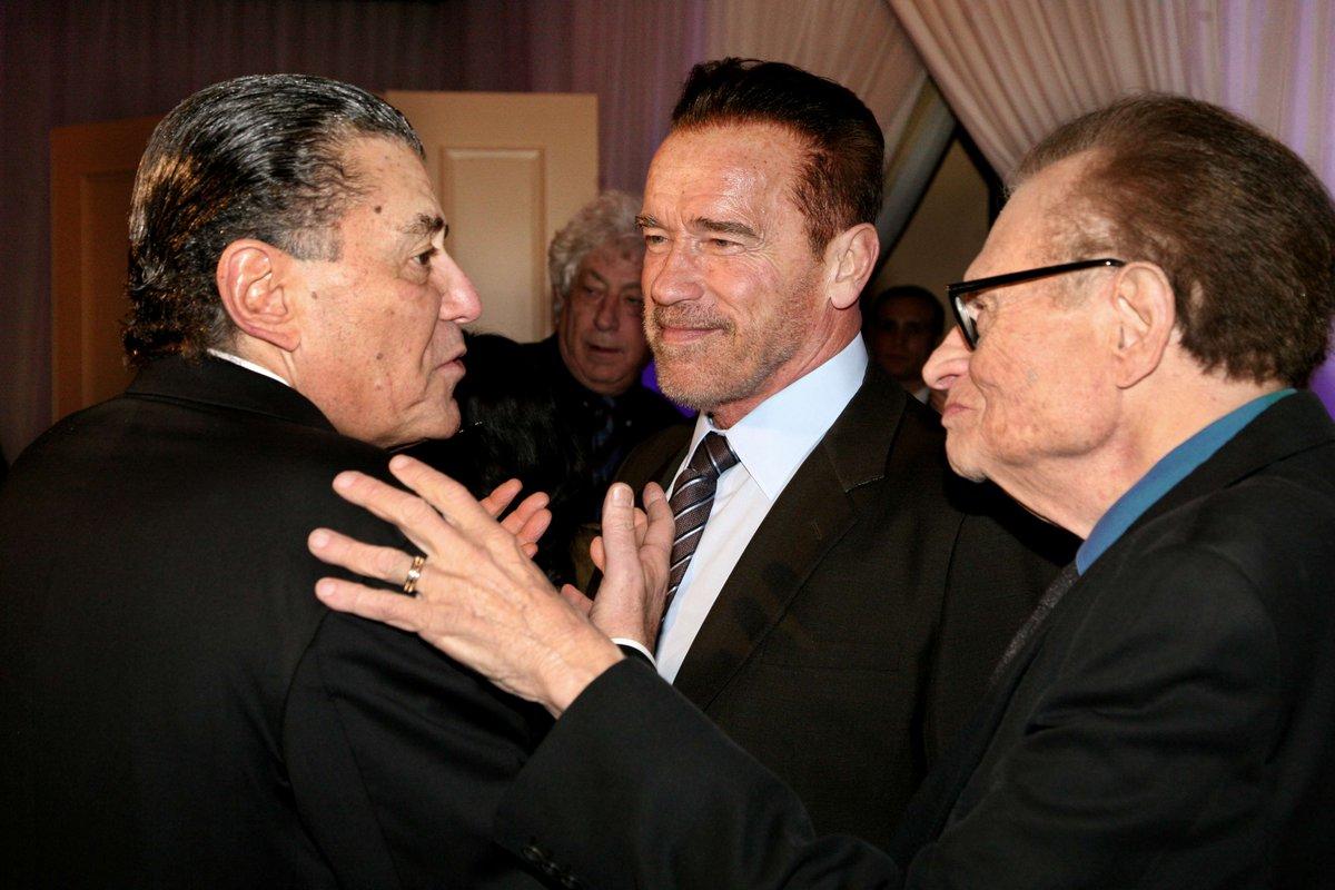 Haim Saban with Larry King and Arnold Schwarzenegger